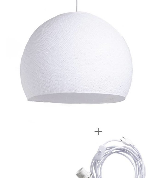 COTTON BALL LIGHTS Wandering Lamp Driekwart - White