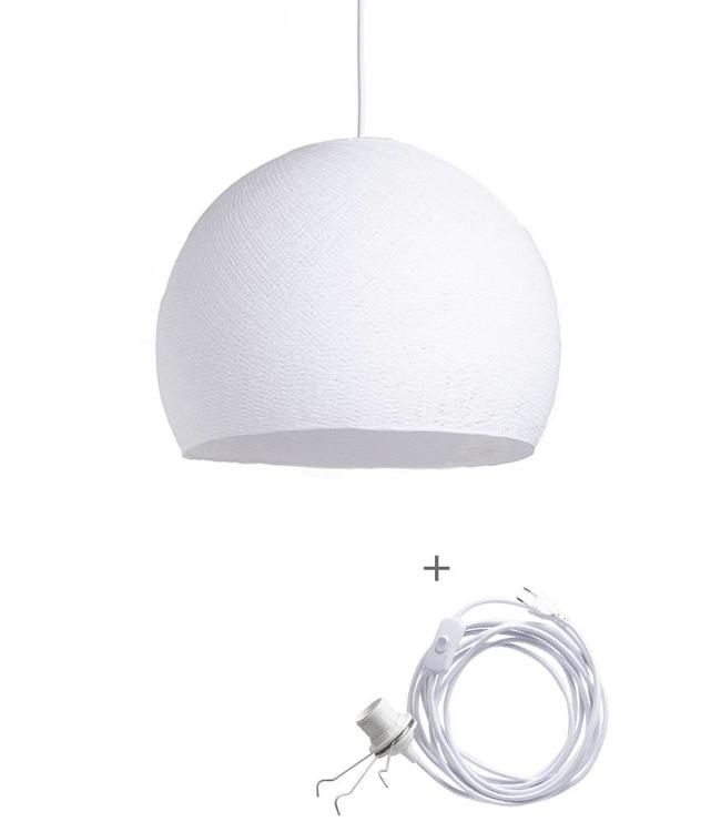 COTTON BALL LIGHTS Wandering Lampe Drei Viertel - White