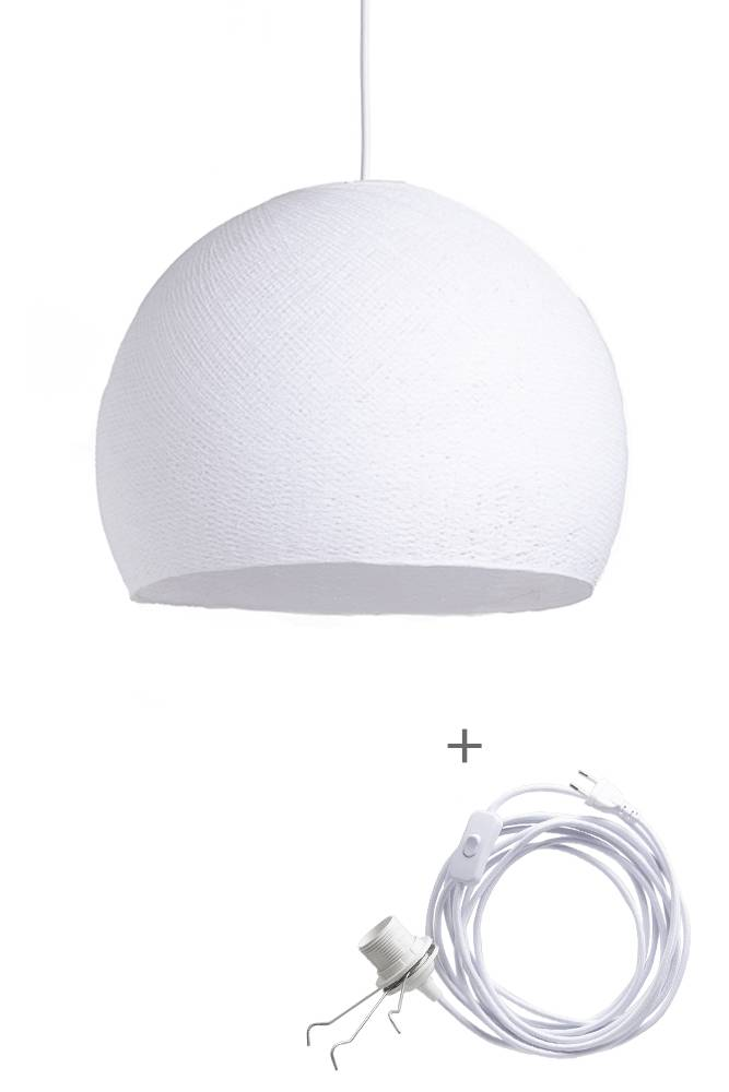 Cotton Ball Lights driekwart wandering hanglamp wit - White