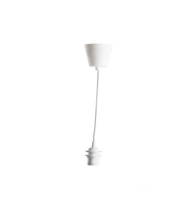 COTTON BALL LIGHTS White Single Hanging Support PVC