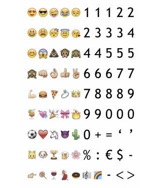 LEDR Emoticons & Cijfers Set