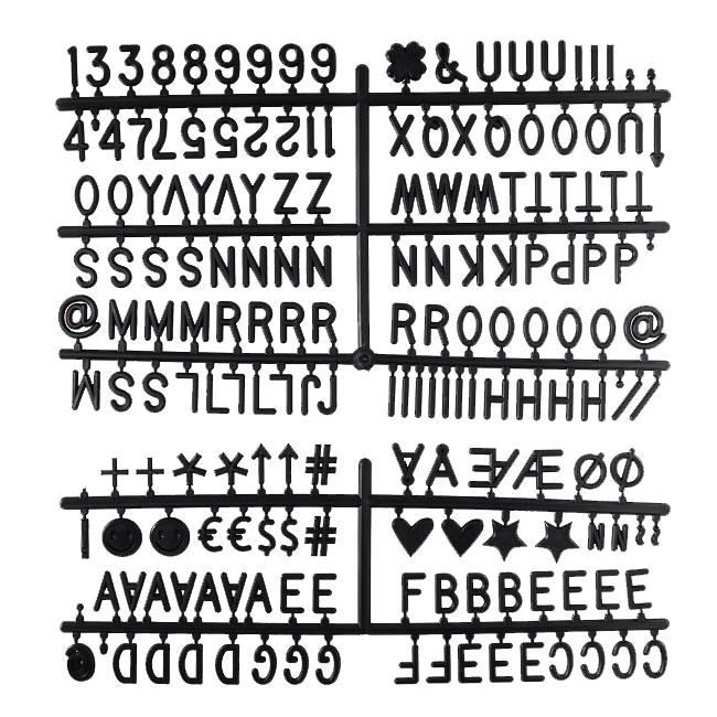 Cotton Ball Lights letters voor letterbord zwart - Letter Set Zwart