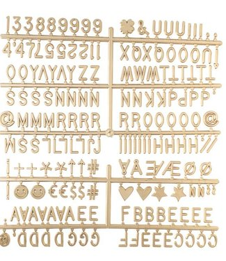 LEDR Letter Set Goud