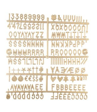 LEDR Letter Set Gold