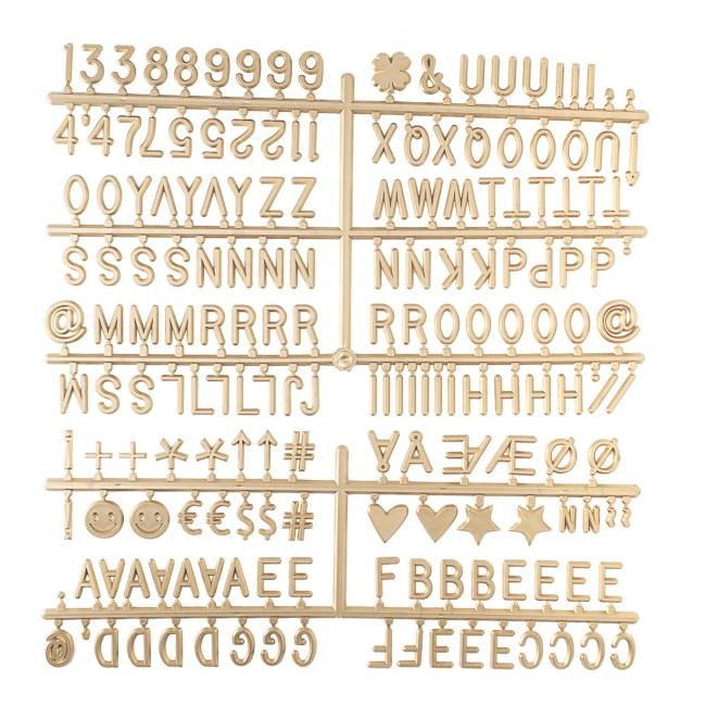 Cotton Ball Lights letters voor letterbord goud - Letter Set Goud