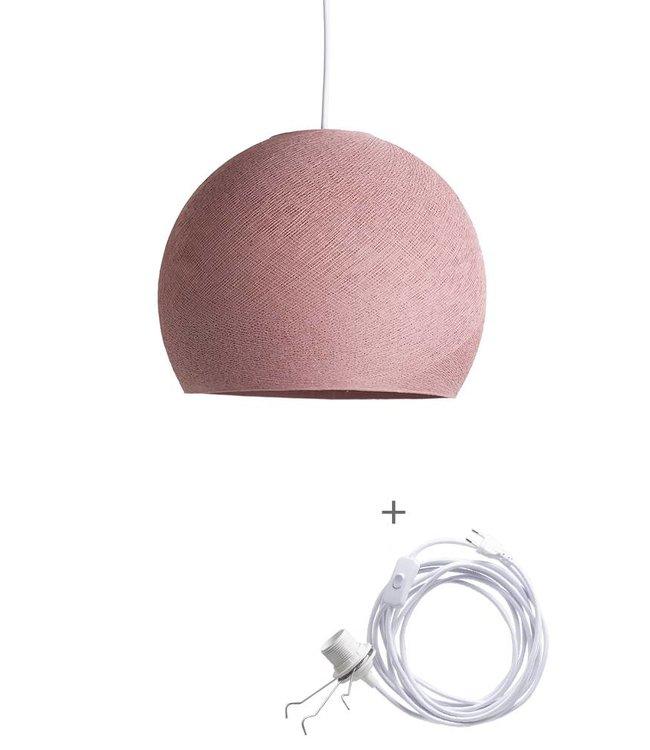 COTTON BALL LIGHTS Wandering Lamp Driekwart - Dirty Rose