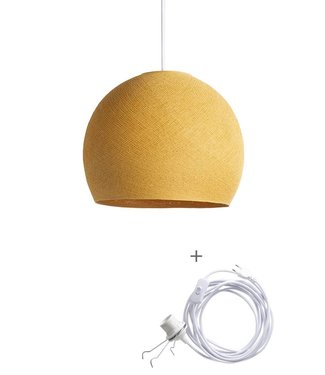 COTTON BALL LIGHTS Wandering Lamp Three Quarter - Mustard