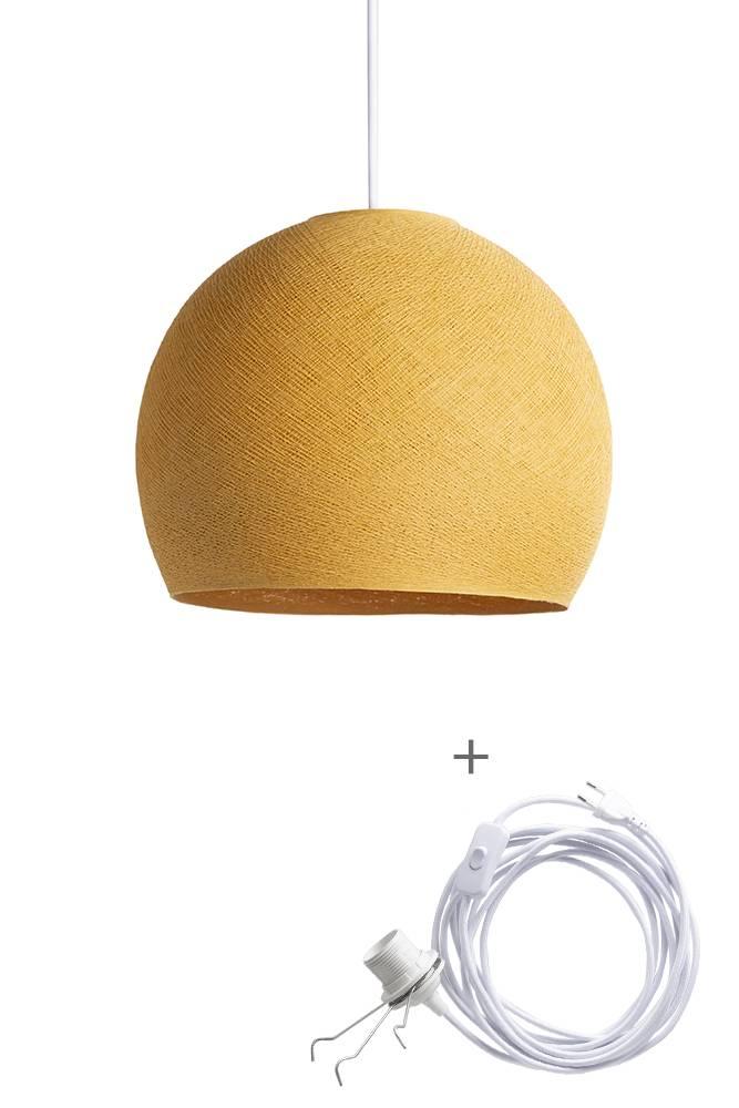 Cotton Ball Lights driekwart wandering hanglamp geel - Mustard