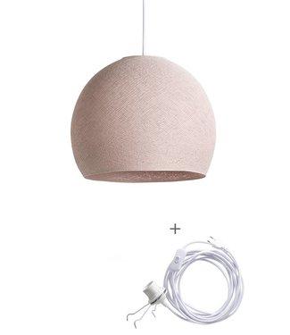 COTTON BALL LIGHTS Wandering Lampe Drei Viertel - Pale Pink