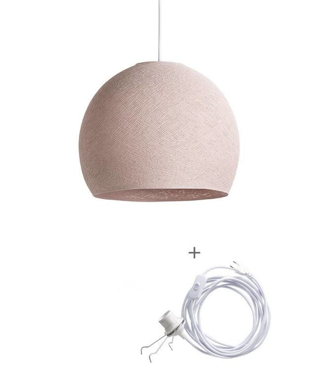 COTTON BALL LIGHTS Wandering Lamp Driekwart - Pale Pink