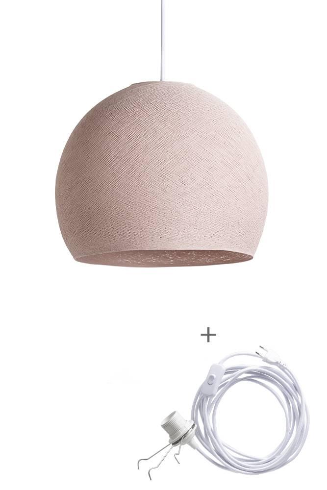 Cottton Ball Lights driekwart wandering hanglamp roze - Pale Pink