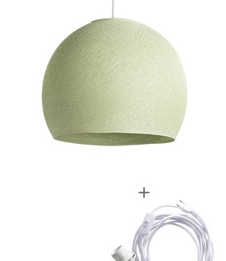 COTTON BALL LIGHTS Wandering Lamp Three Quarter - Powder Green