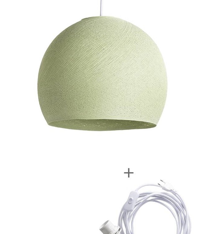 COTTON BALL LIGHTS Wandering Lampe Drei Viertel - Powder Green