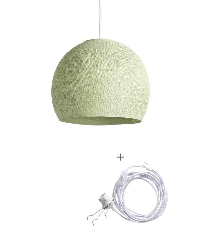 COTTON BALL LIGHTS Wandering Lamp Three Quarter - Powder Green