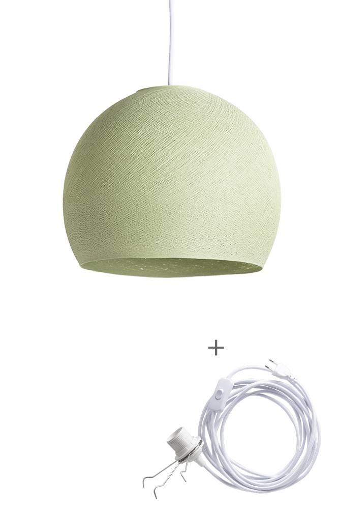 Cotton Ball Lights driekwart wandering hanglamp groen - Powder Green