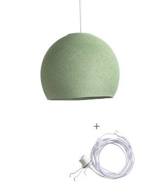 COTTON BALL LIGHTS Wandering Lamp Three Quarter - Sage Green