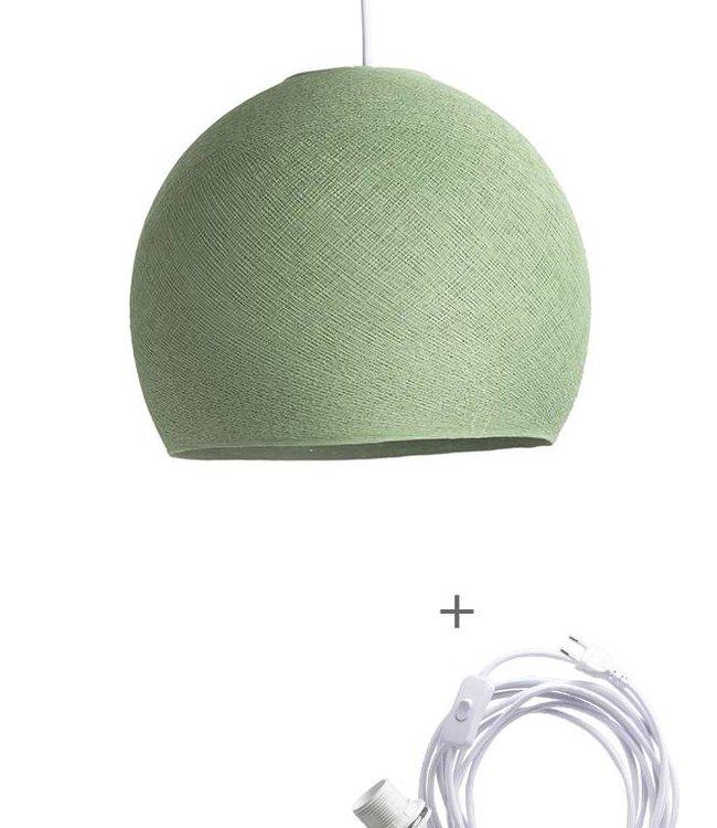 COTTON BALL LIGHTS Wandering Lampe Drei Viertel - Sage Green