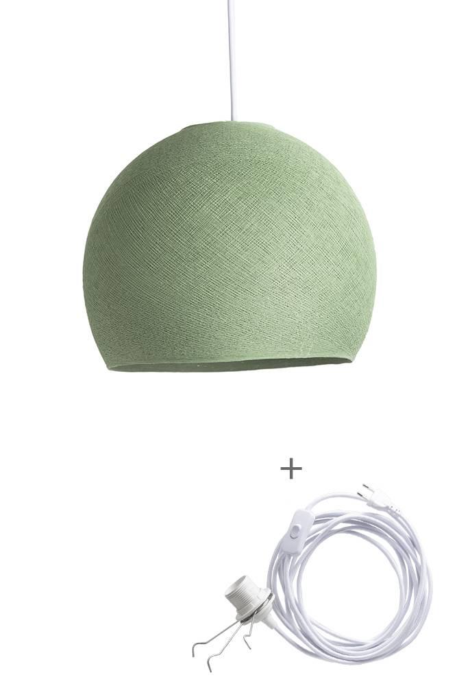 Cotton Ball Lights driekwart wandering hanglamp groen - Sage Green