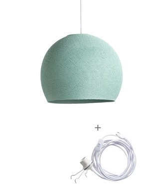 COTTON BALL LIGHTS Wandering Lamp Driekwart - Sea Green