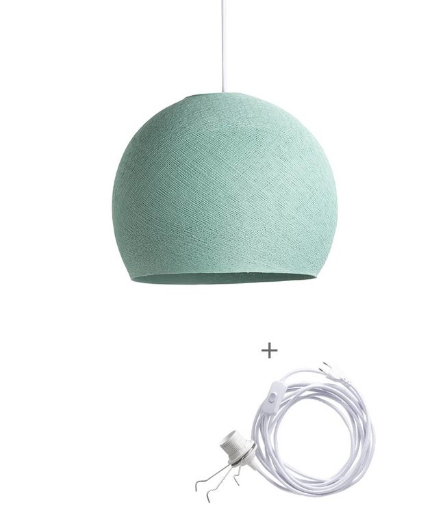 COTTON BALL LIGHTS Wandering Lampe Drei Viertel - Sea Green