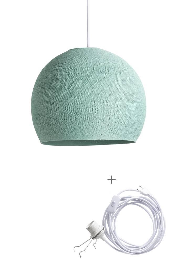 Cotton Ball Lights driekwart wandering hanglamp groen - Sea Green