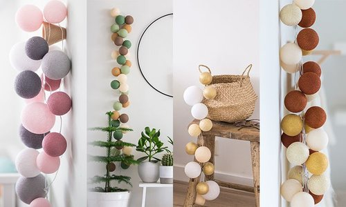All Cotton Ball String Lights