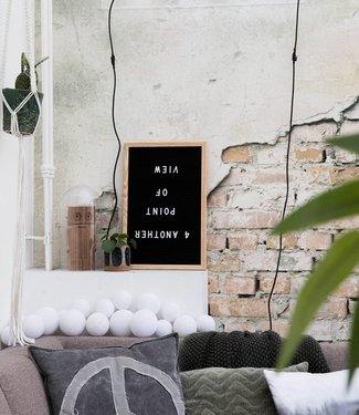 LEDR Letterboard Zwart