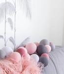 COTTON BALL LIGHTS Cotton Ball Lights Premium lichtslinger roze - Perfect Combi