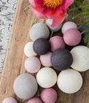 COTTON BALL LIGHTS Cotton Ball Lights Premium lichtslinger roze - Velvet Pinks