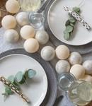 COTTON BALL LIGHTS Cotton Ball Lights Sparkling lichtslinger beige en zilver - shell/silver