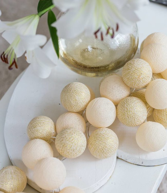 COTTON BALL LIGHTS Sparkling Lichtslinger - Shell/Gold