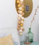 COTTON BALL LIGHTS Sparkling Lichterkette - Gold/Mix
