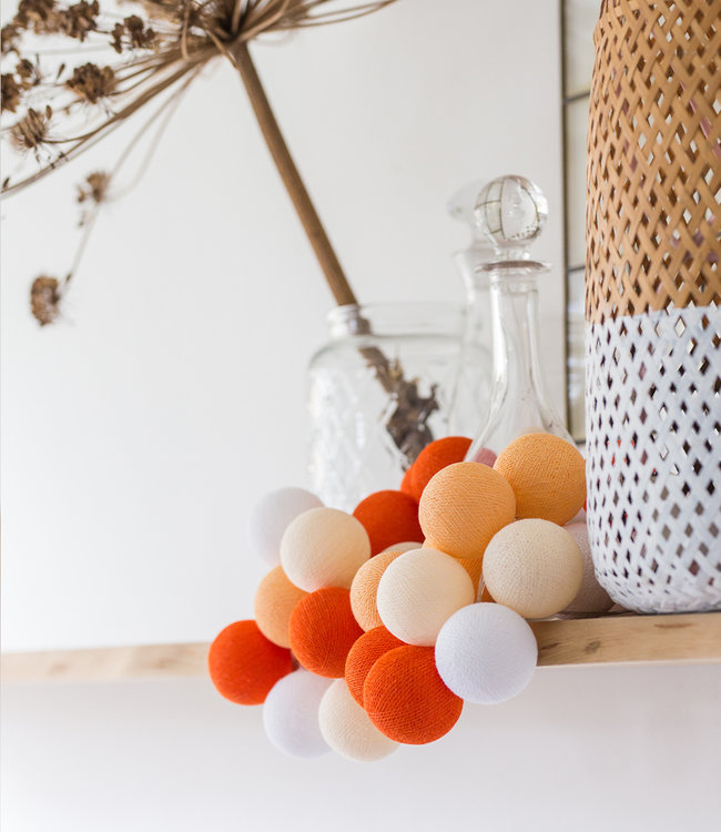 COTTON BALL LIGHTS Regular Light String - Orange