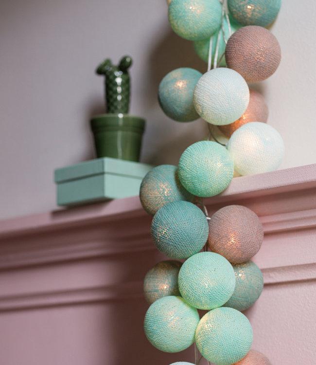 COTTON BALL LIGHTS Regular Light String - Mint