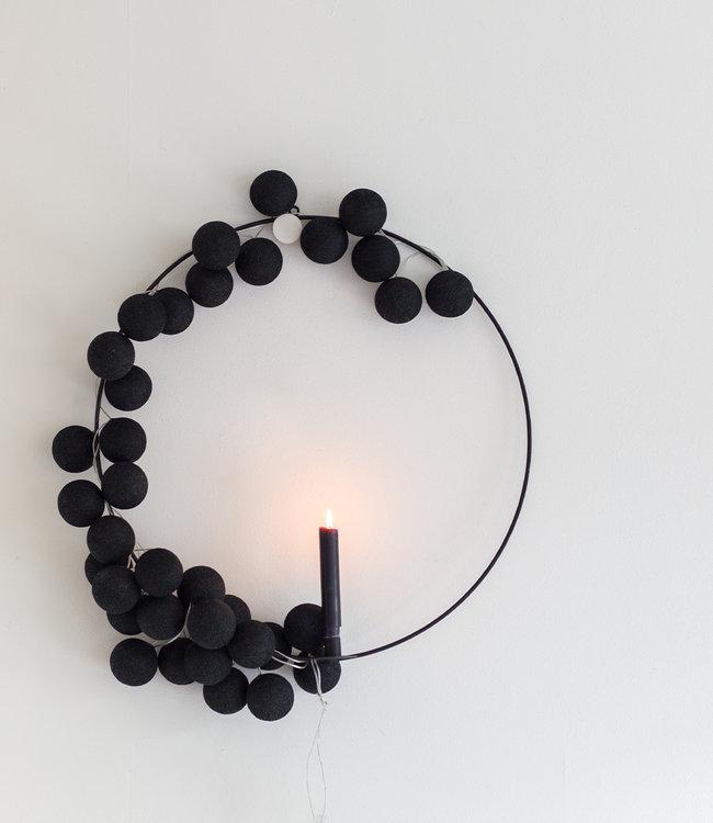 COTTON BALL LIGHTS Regular Light String - Black