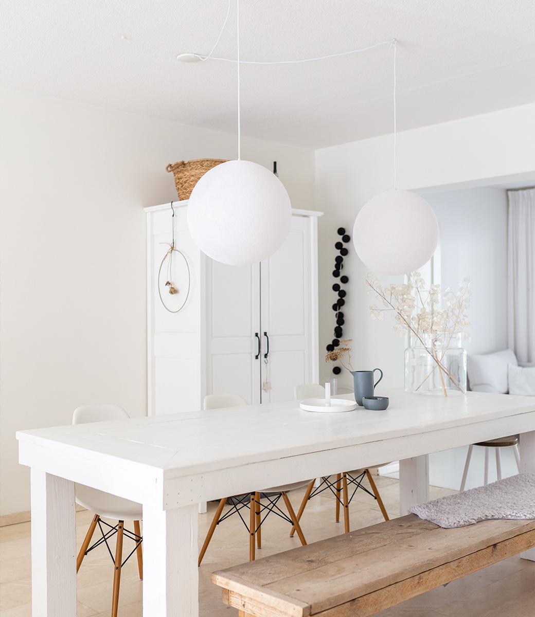 Cotton Ball Lights enkelvoudige hanglamp wit - White