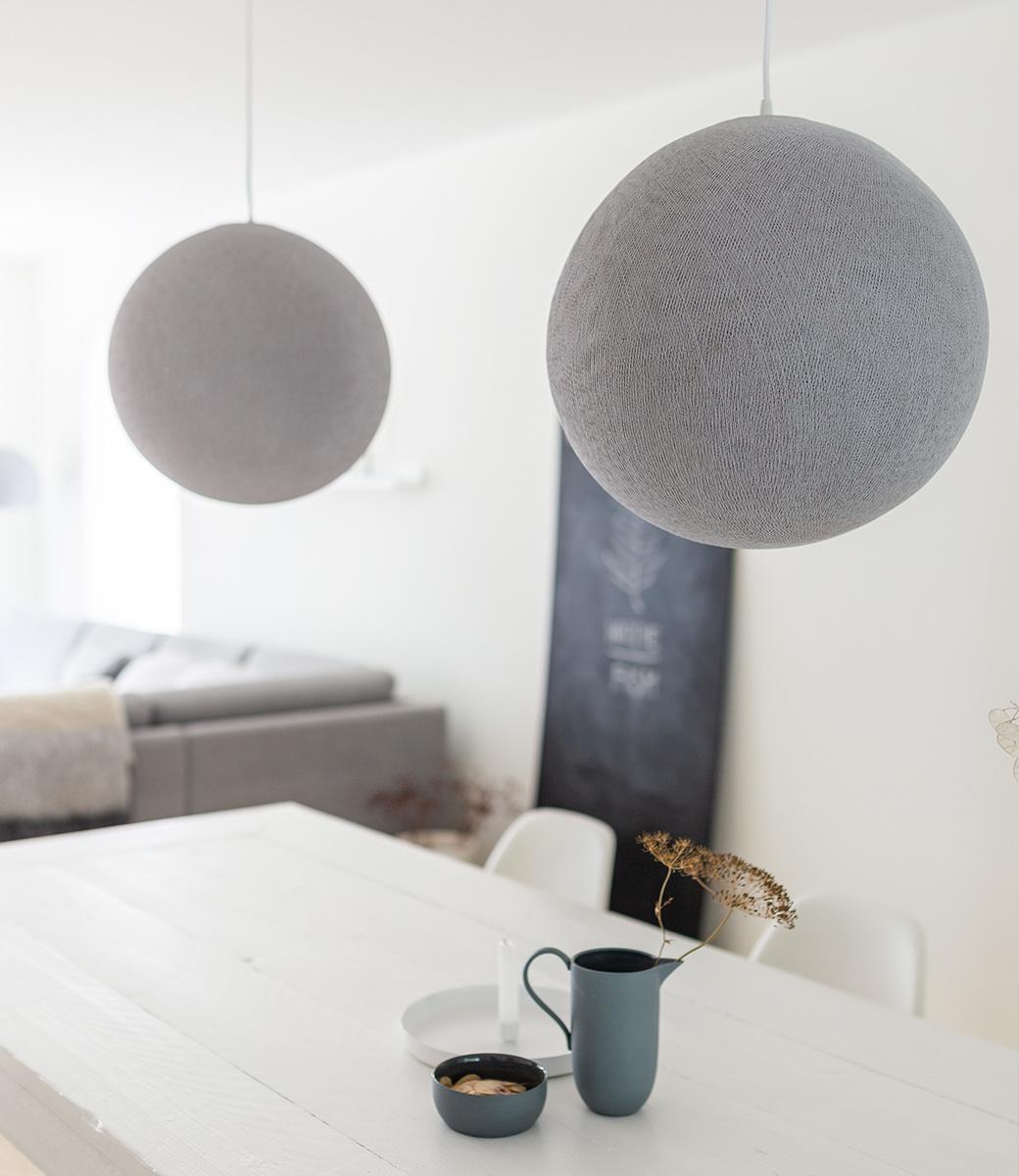 Cotton Ball Lights enkelvoudige hanglamp grijs - Stone