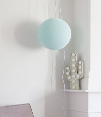COTTON BALL LIGHTS Hanging Lamp - Light Aqua