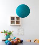 COTTON BALL LIGHTS Cotton Ball Lights enkelvoudige hanglamp blauw - Heavy Aqua