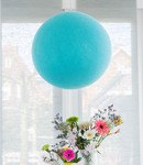 COTTON BALL LIGHTS Cotton Ball Lights enkelvoudige hanglamp blauw - Aqua