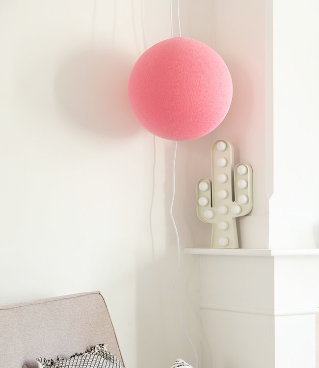 COTTON BALL LIGHTS Hanging Lamp - Soft Pink