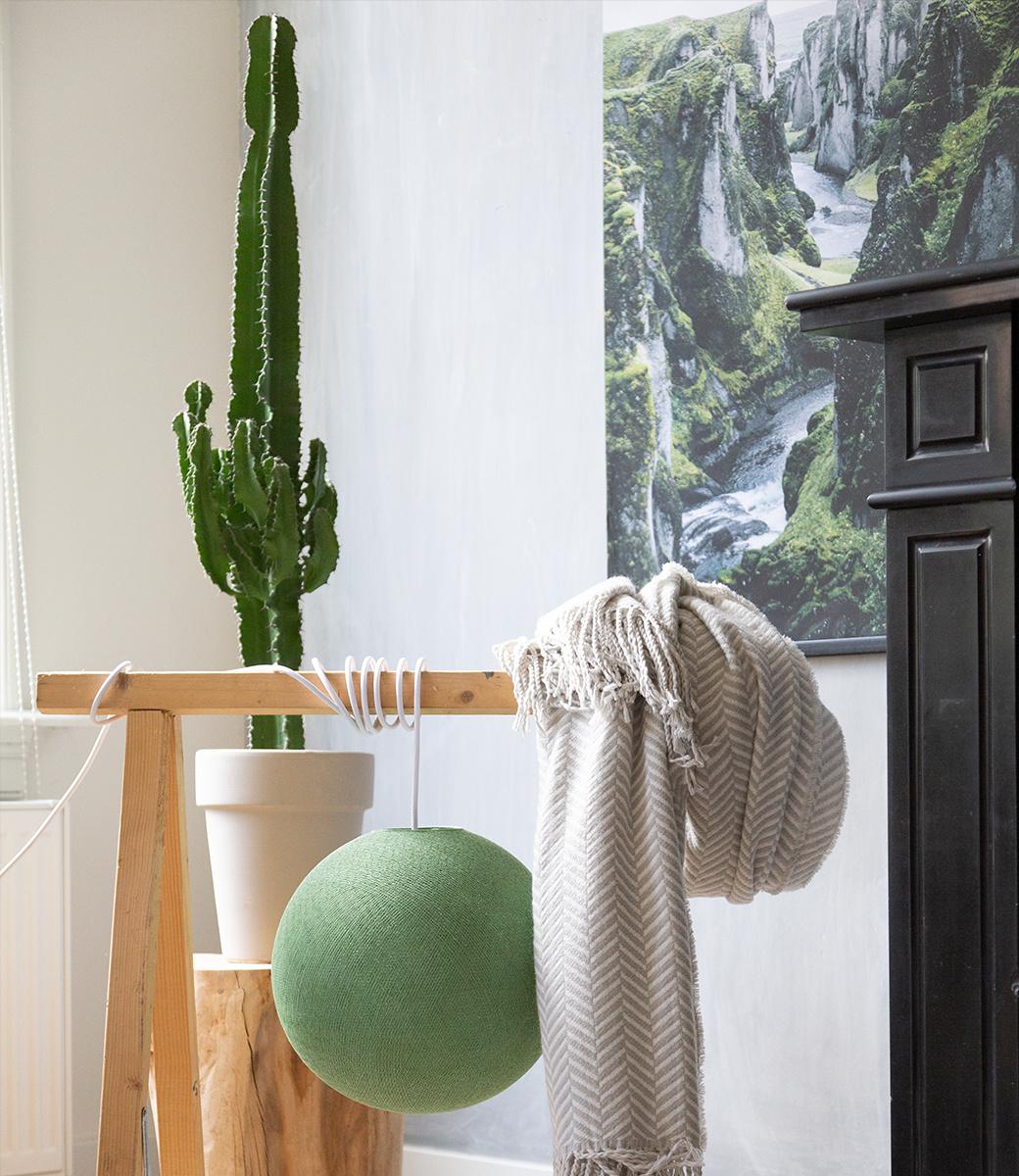 Cotton Ball Lights enkelvoudige hanglamp groen - Sage Green