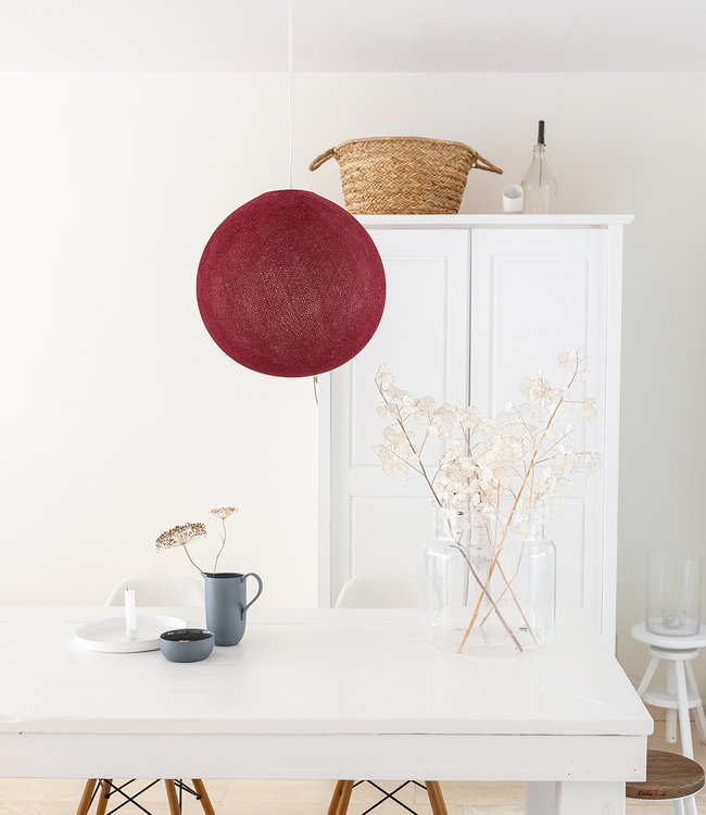 COTTON BALL LIGHTS Hanging Lamp - Dark Red