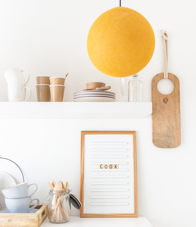 COTTON BALL LIGHTS Hanging Lamp - Mustard