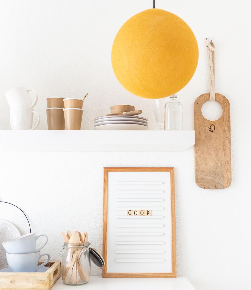 Cotton Ball Lights enkelvoudige hanglamp geel - Mustard