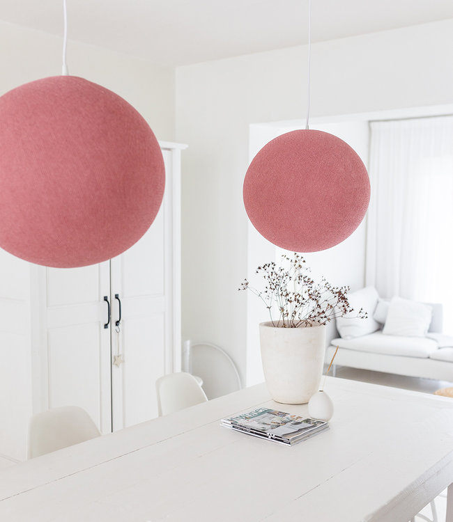 COTTON BALL LIGHTS Hanging Lamp - Dirty Rose