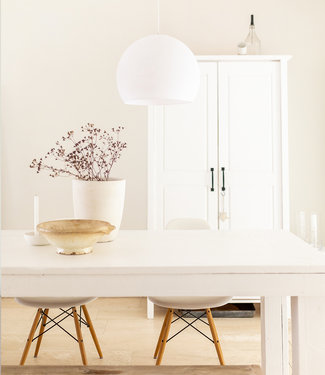 COTTON BALL LIGHTS Hanging Lamp Three Quarter - White