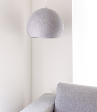 COTTON BALL LIGHTS Hanging Lamp Three Quarter - Stone