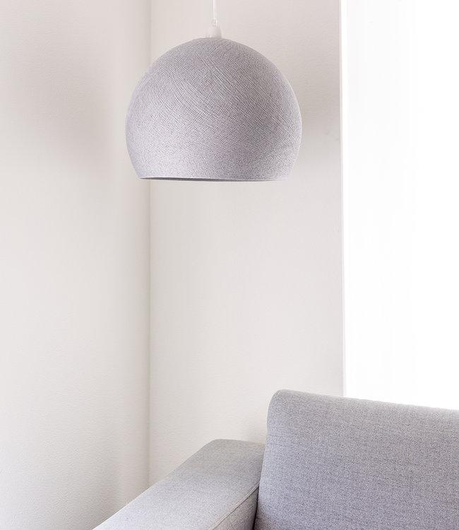 COTTON BALL LIGHTS Hanging Lamp Three Quarter - Stone