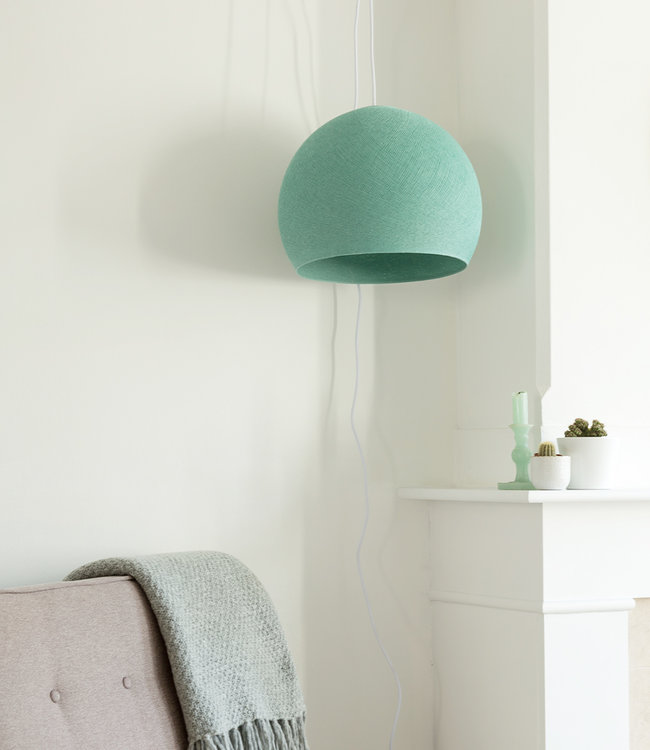 COTTON BALL LIGHTS Hanglamp Driekwart - Sea Green